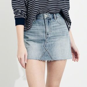 Hollister High Rise Denim Skirt! 100% Cotton!